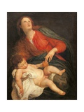 Madonna mit dem Kinde Giclée-Premiumdruck von Sir Anthony Van Dyck