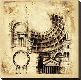 Architectorum II Stretched Canvas Print by Paul Panossian