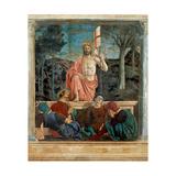 Resurrection of Christ,  by Piero della Francesca, 1450-63. Palazzo del Comune, Arezzo, Italy Giclee Print by  Piero della Francesca
