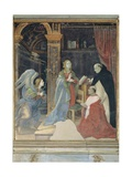 Annunciation with St. Thomas & Cardinal Oliviero Carafa Posters by Filippino Lippi