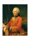 Portrait of the Minister Guillaume du Tillot Posters by Pietro Melchiorre Ferrari