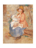 Maternity also called Child at the Breast Reproduction procédé giclée par Pierre-Auguste Renoir
