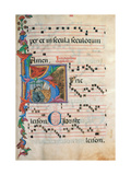 Psalter with holiday Hymns, illuminated manuscript, 15th c. Osservanza Basilica, Siena, Italy Giclee Print