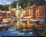 Couleurs de Portofino Reproduction transférée sur toile par Michael O'Toole