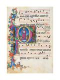 Choral response for religious services, illuminated manuscript, 14th c. Osservanza Basilica, Siena Posters
