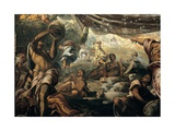 Miracle of the Manna, by Tintoretto, 1577. Scuola Grande di San Rocco, Venice, Italy Giclee Print by Tintoretto
