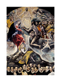 Christ in Piet Between Saints Christopher and Anthony the Abbot Print by  El Greco