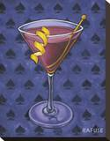 Martini Royale - Spades Stretched Canvas Print by Will Rafuse