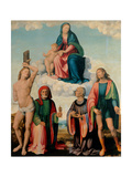 Madonna and Saints Art by Innocenzo da Imola