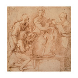 Drawing, Four Figures for a Holy Conversation Prints by  Raphael