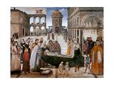 Death of St. Bernardine Plakater af Pinturicchio