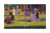 Study for A Sunday Afternoon on the Island of La Grande Jatte Schilderijen van Georges Seurat