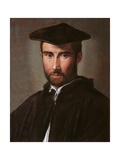 Portrait of a Man (Clergyman), Parmigianino, c. 1526. Borghese Gallery, Rome, Italy Posters by  Parmigianino
