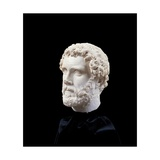 Portrait of Antoninus Pius, 138 - 192 A.D. Ancient Roman statue. Palazzo Massimo, Rome, Italy Prints