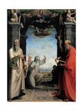 Stigmatization of St Catherine of Siena, by Domenico Beccafumi, 1514. National Gallery, Siena Giclée-tryk af Domenico Beccafumi