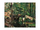 Bridge at Maincy, Melun Giclee Print by Paul Cézanne