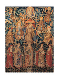 Flemish Tapestry of St. Francis' Tree, 1471 - 1472, Assisi, Italy, Prints
