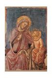 Madonna Sewing Prints by Vitale da da Bologna