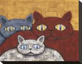 Sun Cats Stretched Canvas Print by Kevin Snyder