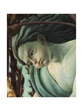 Primavera, Face of Zephyrus blowing Giclee Print by  Botticelli