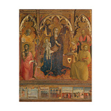 Polyptych of Our Lady of the Snow, il Sassetta, c. 1430-1432, Uffizi Gallery, Florence, Italy Poster by il Sassetta da Cortona
