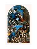 Burial and Glory of St. Petronilla Poster by  il Guercino