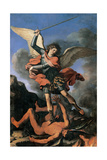 St. Michael the Archangel Art by  il Guercino
