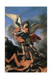 St. Michael the Archangel Art by  il Guercino