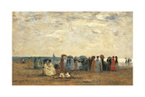 Bathers on the Beach at Trouville Posters by Eugène Boudin