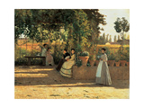 One Afternoon (or The Pergola) Affiche par Silvestro Lega