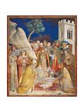 Life of St. Martin, Miracle of Resurrected Child Kunstdrucke von Simone Martini