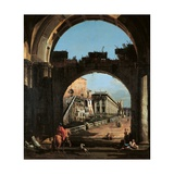 Capriccio of the Capitol Prints by Bernardo Bellotto