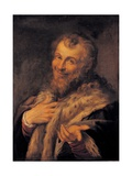 Male Portrait Giclee Print by Agostino Carracci