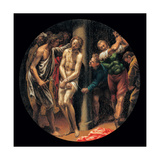 Mysteries of the Rosary, The Scourging of Christ Print by Vincenzo Campi