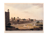 Delhi, India. Neighborhood of the Mausoleum of Humaidos, 19th c. aquatint etching. Milan, Italy Giclee Print