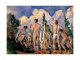Bathers Posters by Paul Cézanne