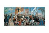 Legend of the Cross, Battle of Heraclius & Chosroes.  Piero della Francesca, 1452-62. Arezzo, Italy Poster by  Piero della Francesca