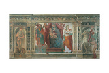 Madonna & Child with Sts. Onofrius, Christopher, Agatha & Martin Prints by Domenico Beccafumi