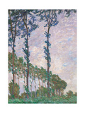 Wind Effect, Series of Poplars Posters by Claude Monet