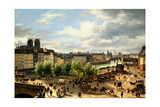 View of the Seine in Paris Print by Giuseppe Canella
