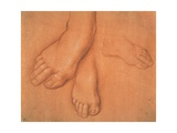 Drawing of Feet Print by Cesare da Sesto