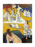 Bathers with Red Cow Posters by Emile Bernard