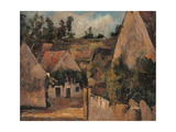Crossroad of the Rue Remy, Auvers Giclee Print by Paul Cézanne