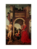 St. Sebastian and St. Catherine of Alexandria Giclee Print by Francesco Pagano Pagano