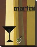 Groovy Martini I Stretched Canvas Print by Celeste Peters