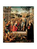 Noli Me Tangere, Christ appearing to Mary Magdalene, with Saints Poster by Timoteo Viti