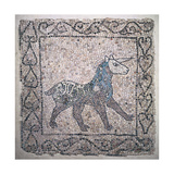 Mosaic of a Unicorn, 13th c. National Museum, Ravenna, Italy Prints
