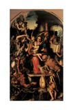 Holy Family and Saints Contending with Devil for Souls Posters by Giorgio  Gandini del Grano