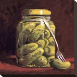 The Pickle Fork Stretched Canvas Print by Cathy Lamb