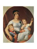 Queen of Etruria with her Son  and Daughter Posters by Pietro Benvenuti